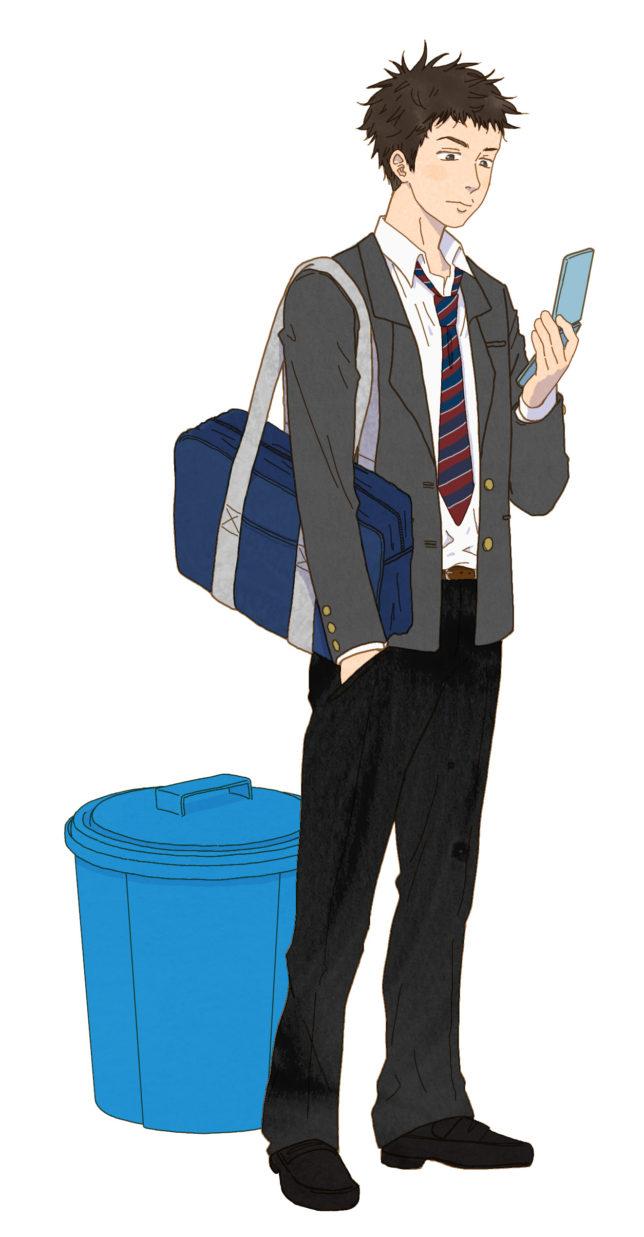 ゴミ箱と高校生